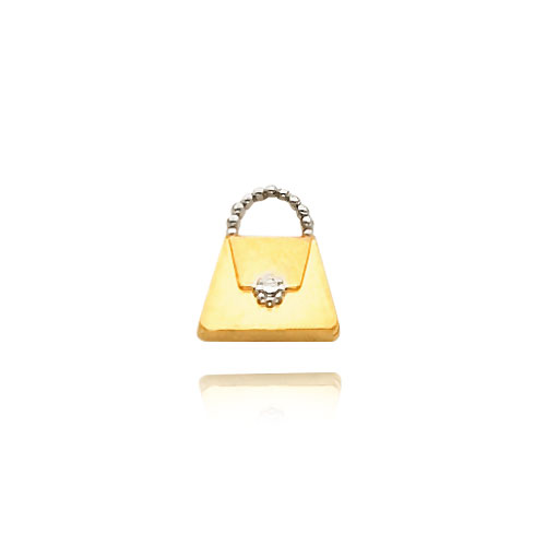 14K Gold & Rhodium Purse Necklace. Price: $155.96