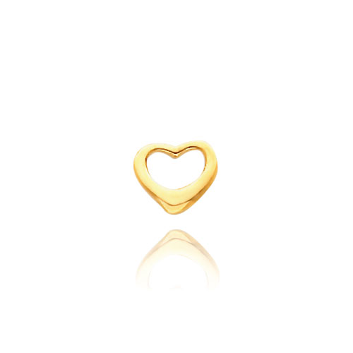 14K Gold Floating Heart Necklace. Price: $94.92