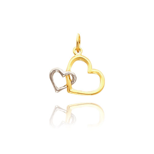 14K Gold Rhodium Interlocking Hearts Necklace. Price: $108.16
