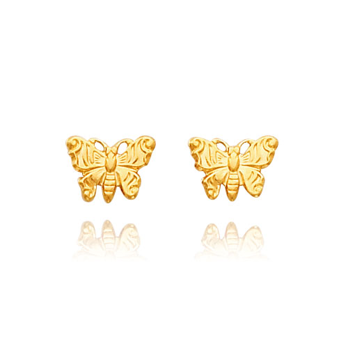 14K Gold Butterfly Earrings. Price: $41.78
