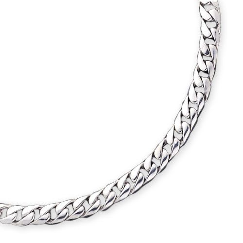 Sterling Silver 7.75mm Curb Link Chain. Price: $136.56