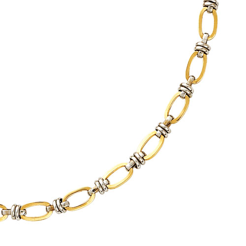 14K Two-Tone Fancy Link Necklace. Price: $691.76
