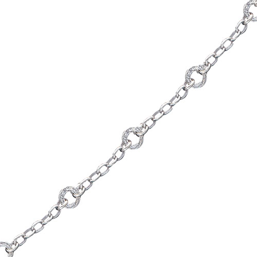 Sterling Silver Round Hammered Link Necklace. Price: $203.04