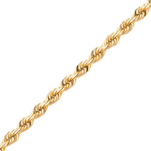 14K 5.5mm Diamond-Cut Rope with Lobster Clasp Chain. Price: $2239.05