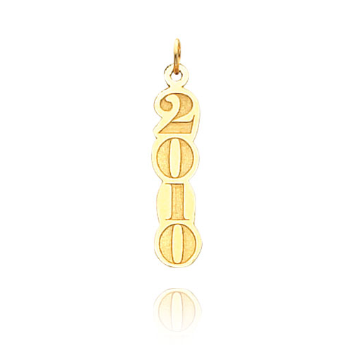 14K Gold Vertical 2010 Charm. Price: $40.26
