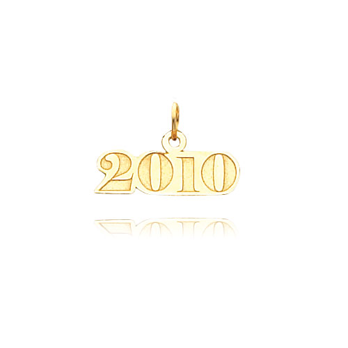 14K Gold Horizontal 2010 Charm. Price: $36.78