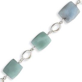 Sterling Silver  Amazonite Stones Bracelet. Price: $16.00