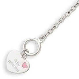 Sterling Silver Childs Heart Bracelet. Price: $45.52