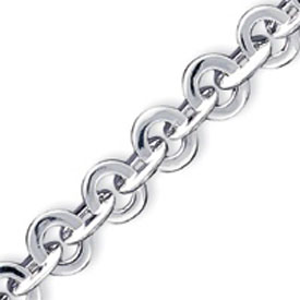 Sterling Silver  Polished Fancy Link Toggle Bracelet. Price: $134.36