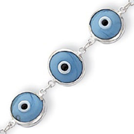 Dimensional Opaque Turquoise Blue Eye Bracelet. Price: $40.02
