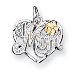 Sterling Silver # 1 Mom Heart Charm. Price: $20.19