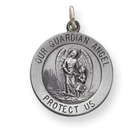 Sterling Silver Guardian Angel Medal. Price: $28.32