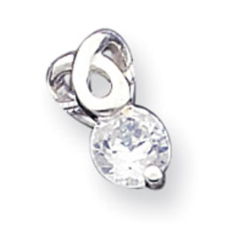 Sterling Silver CZ Pendant With Chain. Price: $50.01