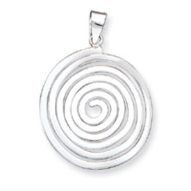 Sterling Silver Fancy Round Pendant. Price: $50.97
