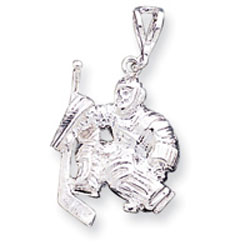Sterling Silver Hockey Goalie Charm. Price: $34.89