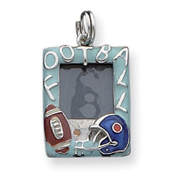 Sterling Silver Enameled Football Picture Frame Charm. Price: $17.28