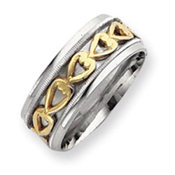 Sterling Silver & Vermeil Inner Channel Spinning Band. Price: $29.20