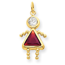 14K Gold January Girl Gemstone Charm. Price: $50.46