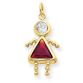 14K Gold January Girl Gemstone Charm. Price: $50.46