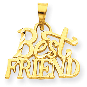 14K Gold  Best Friend Pendant. Price: $58.96