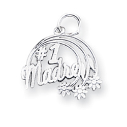Sterling Silver #1 Madre Charm. Price: $6.84