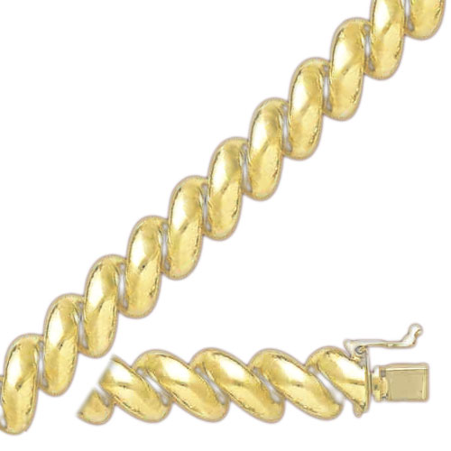 14K 8.5mm Polished San Marco Necklace. Price: $1856.37