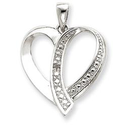 Sterling Silver CZ Heart Pendant. Price: $47.16