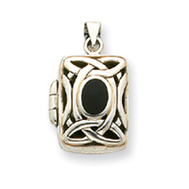 Sterling Silver Onyx Locket. Price: $48.46