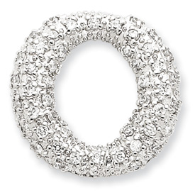 Sterling Silver CZ Floating Circle Pendant. Price: $40.47