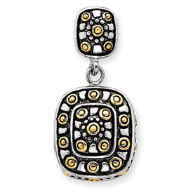 Sterling Silver Vermeil And Antiqued Pendant. Price: $57.09