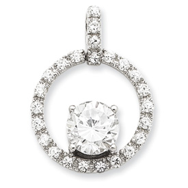 Sterling Silver CZ Chain Slide Pendant. Price: $47.13