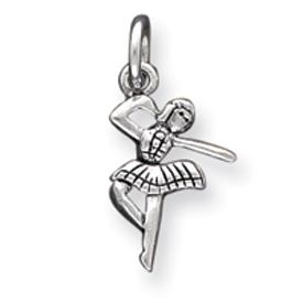 Sterling Silver Antique Ballerina Charm. Price: $15.09