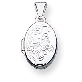 Sterling Silver Butterfly Oval Locket. Price: $29.37