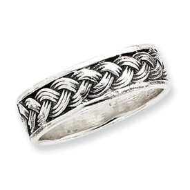 Sterling Silver Antiqued Band With Braid. Price: $47.55