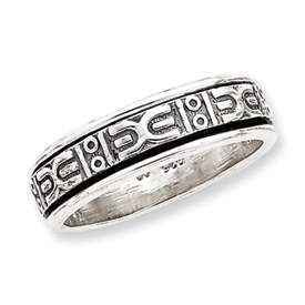 Sterling Silver Antiqued Band. Price: $55.77