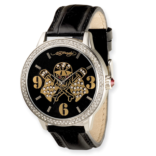 Mens Ed Hardy Apollo Skull/Flags Watch. Price: $141.76