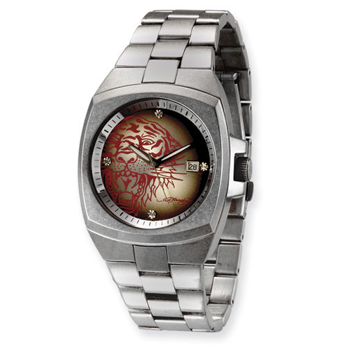 Mens Ed Hardy Kool Steel Red Tiger Watch. Price: $220.00