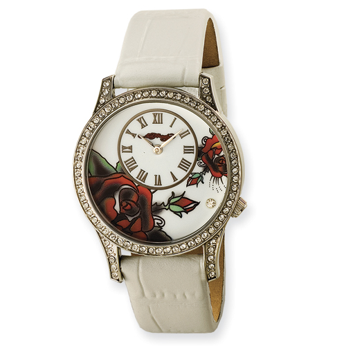 Ladies Ed Hardy Antoinette White Watch. Price: $118.14