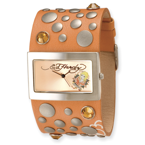 Ladies Ed Hardy Love Child Orange Watch. Price: $133.88