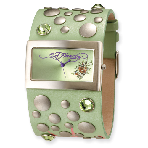 Ladies Ed Hardy Love Child Green Watch. Price: $133.88