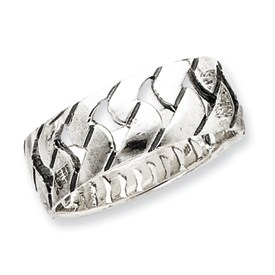 Sterling Silver Antiqued Band. Price: $42.66