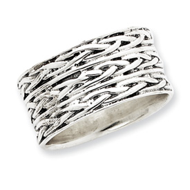 Sterling Silver Antiqued Band Ring. Price: $40.18