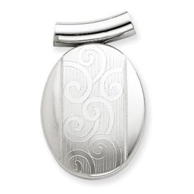 Sterling Silver Oval Slide Locket. Price: $97.52
