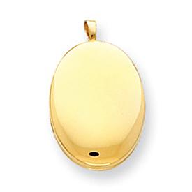 14K Gold Filled 2-Frame Oval Locket. Price: $52.17
