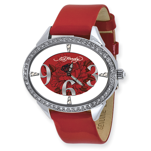 Ladies Ed Hardy Show Girl Red Watch. Price: $118.14