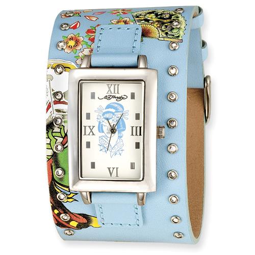 Ladies Ed Hardy Temptress Blue, Geisha Watch. Price: $126.00