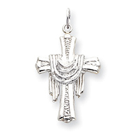 Sterling Silver Draped Cross Charm. Price: $18.18