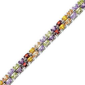 Sterling Silver 7''  Multicolored CZ Bracelet. Price: $134.10