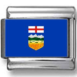 Alberta, Canada Flag Photo Charm
