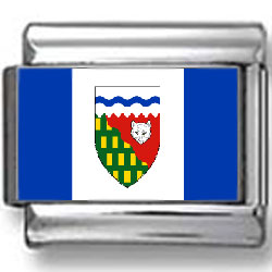 Northwest Territories, Canada Flag Photo Charm